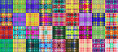 Digital Art - Colorful Plaid Panorama 1 by Andee Design