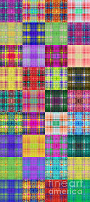 Digital Art - Colorful Plaid Panorama 2 by Andee Design