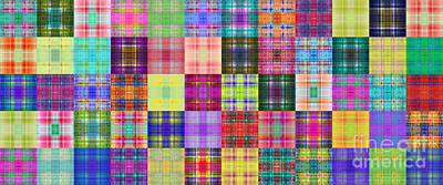 Digital Art - Colorful Plaid Panorama 3 by Andee Design