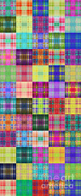 Digital Art - Colorful Plaid Panorama 4 by Andee Design
