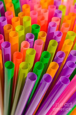 Impressionist Landscapes - Colorful Plastic Drinking Straws by Tomislav Zivkovic