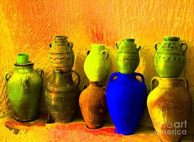 Photograph - Colorful Pottery by Randi Grace Nilsberg
