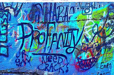 Colorful Profanity Art Print