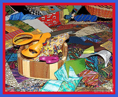 Photograph - Colorful Quilting Table  II by Margie Avellino