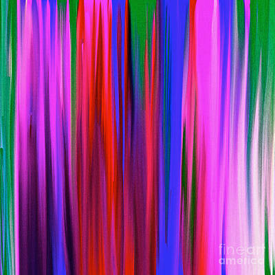 Painting - Colorful Rain Abstract by Saundra Myles