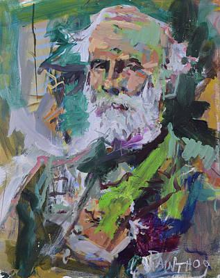 Painting - Colorful Robert E Lee Portrait by Robert Joyner