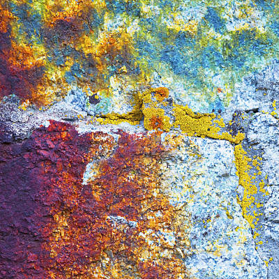 Colorful Rock 5973 Art Print by Bob Hills