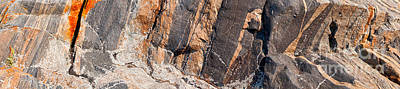 Photograph - Colorful Rock Panoramic Pattern  by Les Palenik