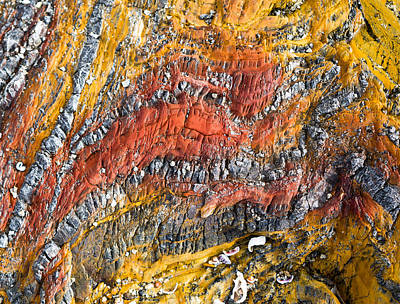 Photograph - Colorful Rocks - Australia by Steven Ralser