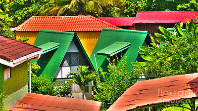 Colorful Rooftops In Costa Rica Art Print by Michelle Wiarda