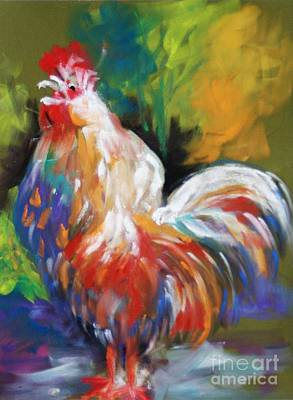 Painting - Colorful Rooster by Melinda Etzold