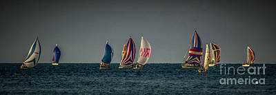 Photograph - Colorful Sailboats by Ronald Grogan