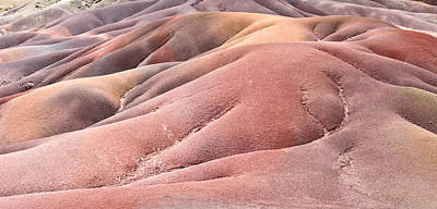 Vulcan Photograph - Colorful Sands by Tom Gowanlock