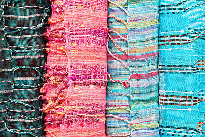 Colorful Scarves Print by Tom Gowanlock