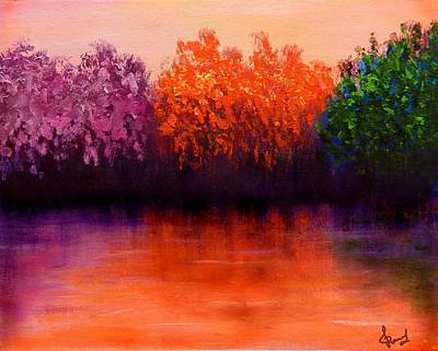 Colorful Seasons Art Print by Lilia D