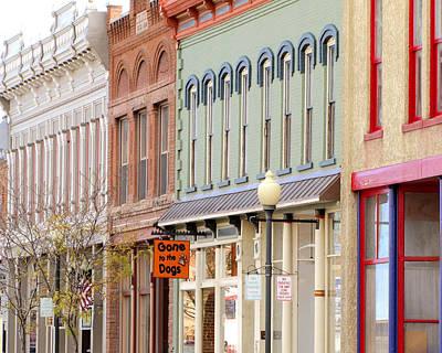 The Main Photograph - Colorful Shops Quaint Street Scene by Ann Powell