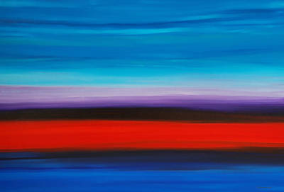 Color Block Painting - Colorful Shore - Abstract Art By Sharon Cummings by Sharon Cummings