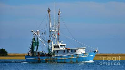 Photograph - Colorful Shrimp Boat 16x9 Ratio by Bob Sample