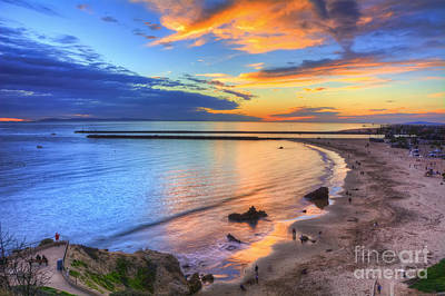 Jetty Digital Art - Colorful Sky At Inspiration Point by Eddie Yerkish