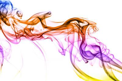 Colorful Smoke Abstract Art Print