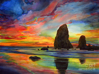 Rock Painting - Colorful Solitude by Hailey E Herrera