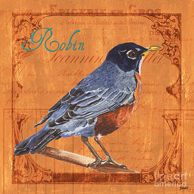 Songbird Painting - Colorful Songbirds 2 by Debbie DeWitt