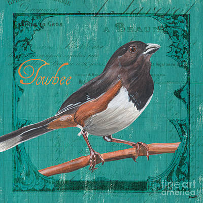 Border Painting - Colorful Songbirds 3 by Debbie DeWitt