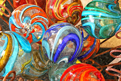 Colorful Spheres Art Print