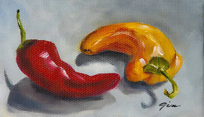 Pepper Painting - Colorful Spice by Gina Cordova