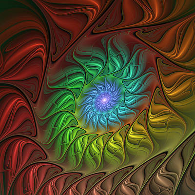 Bronce Digital Art - Colorful Spiral by Gabiw Art