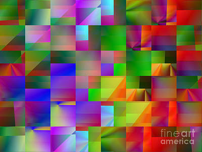 Digital Art - Colorful Squares Abstract 2 by Kristi Kruse