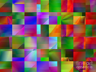 Digital Art - Colorful Squares Abstract 3 by Kristi Kruse