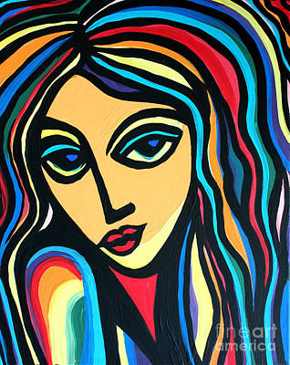 Colorful Stare Art Print by Cynthia Snyder