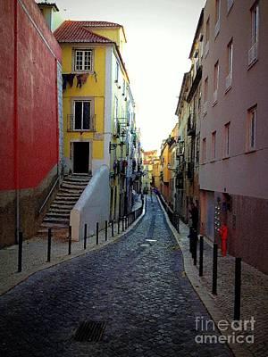 Colorful Street In Lisboa Art Print by Noa Yerushalmi