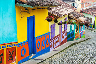 Guatape Photograph - Colorful Street by Jess Kraft