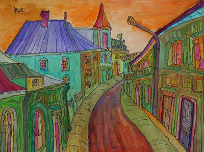 Painting - Colorful Street by Oscar Penalber