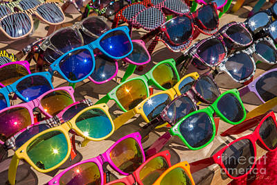 Colorful Sunglasses Art Print
