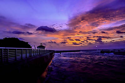 Photograph - Colorful Sunrise Boynton Inlet Jetty by Don Durfee