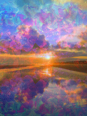 Colorful Sunset By Jan Marvin Art Print