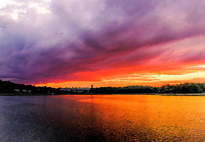 Photograph - Colorful Sunset In Boston Ma by Ludmila Nayvelt
