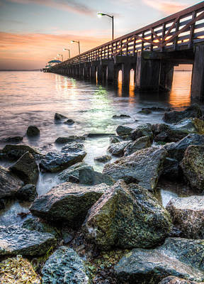 Pier Digital Art - Colorful Tampa Bay by Clay Townsend