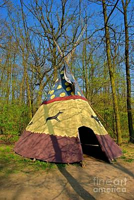 Colorful Teepee Art Print by Martin Capek