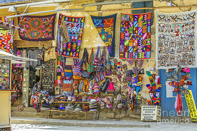Photograph - Colorful Textile For Sale In Peru by Patricia Hofmeester