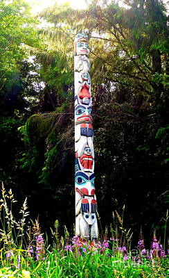 Photograph - Colorful Totem by John Potts