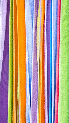 Towels Drying Photograph - Colorful Towels by Tom Gowanlock