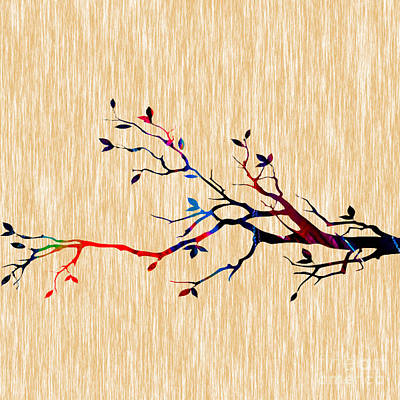 Colorful Tree Branch Print by Marvin Blaine