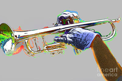Colorful Trumpet Art Print by Tom Gari Gallery-Three-Photography