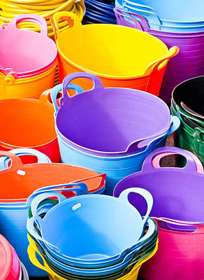 Colorful Tubs Art Print by Tom Gowanlock
