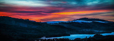 Colorful Twilight Panorama Art Print by Mike Lee
