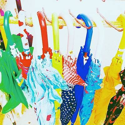 Pop Art Photograph - Colorful Umbrella  #rain  #colorful by Natsumi Taira